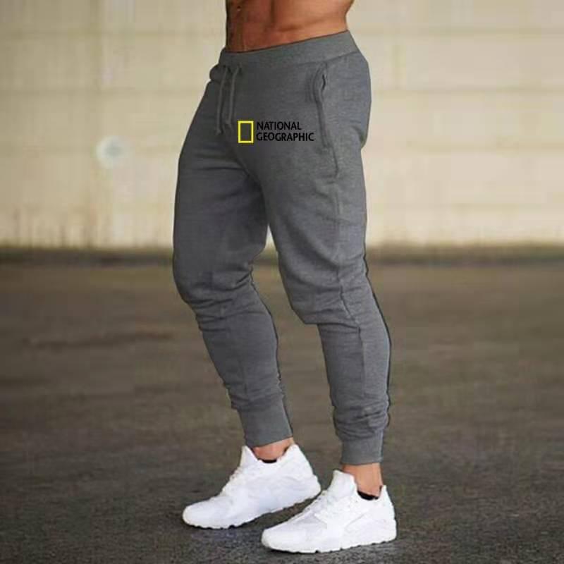 Штаны для бега National Geographic, мужские спортивные тренировочные штаны, штаны для бега, Мужские штаны для фитнеса, тренировочные штаны, облегающи...