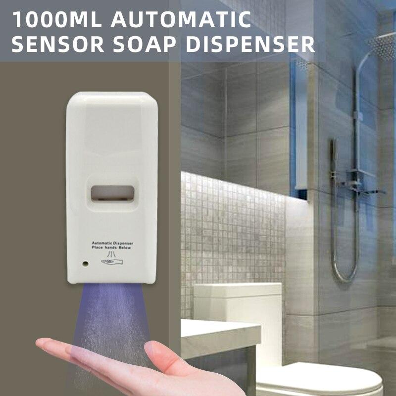 Dispensador de jabón automático con Sensor inteligente infrarrojo de 1000ml, dispensador de jabón con lámpara de cuarzo, dispensador de jabón esterilizado