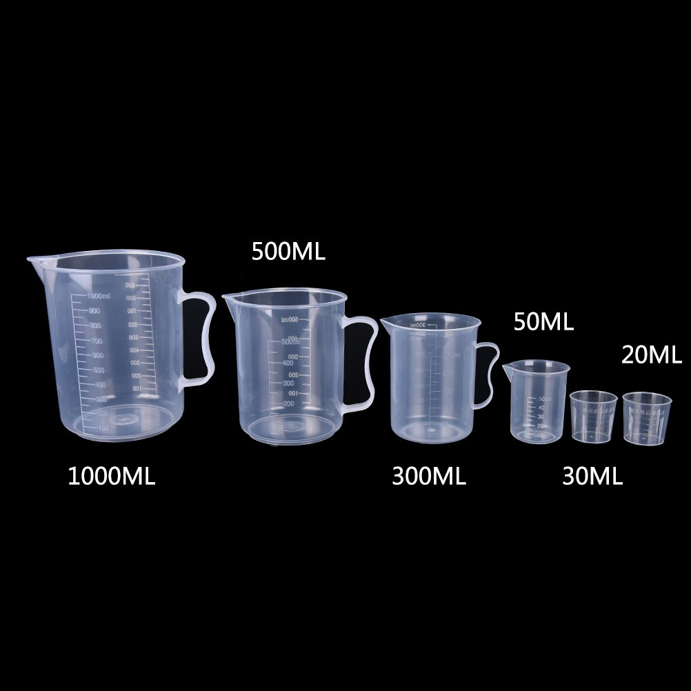 Taza de plástico PP Digital para medir, 20/30/50/300/500/1000ML, taza de escala de cristal para cocina, utensilios de cocina