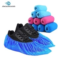 disposable non woven shoe cover breathable non slip overshoes thicken dustproof elasticity boot shoe covers for indoorhousehold