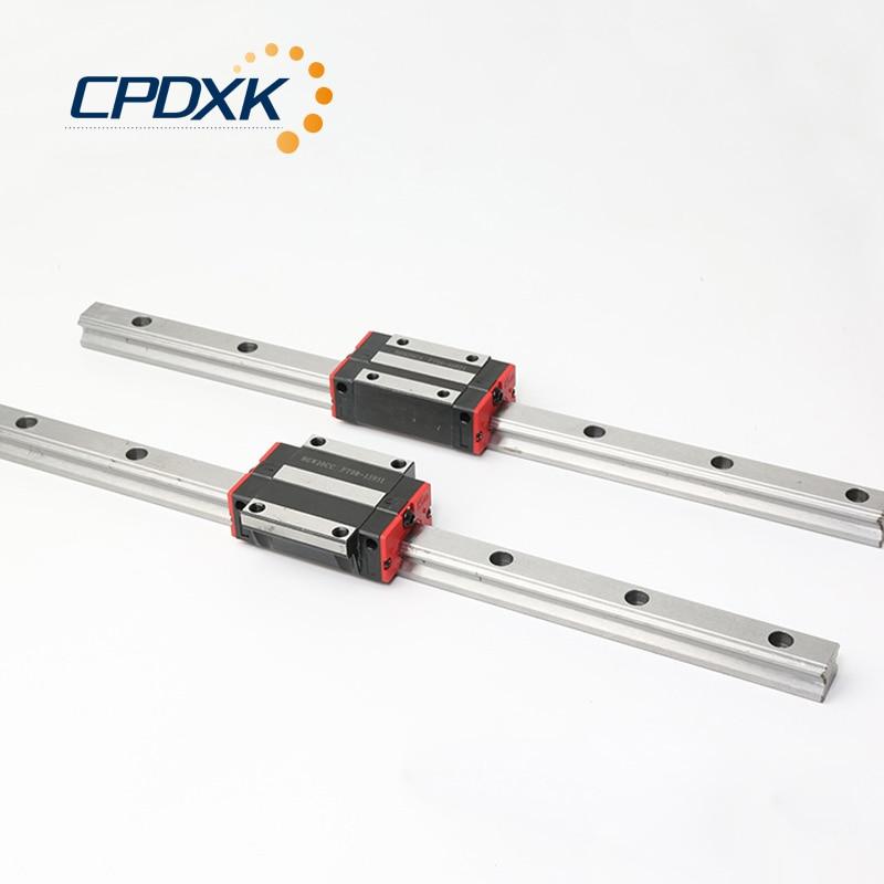 2 قطعة HGR30 مربع الخطي دليل السكك الحديدية L250-950mm + 4 قطعة الخطية كتلة النقل HGH30CA أو Flang HGW30CC ل CNC جزء