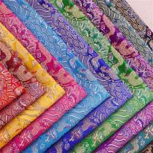 Tissu satiné en tissu jacquard brocart avec motif dragon pour cheongsam et kimono