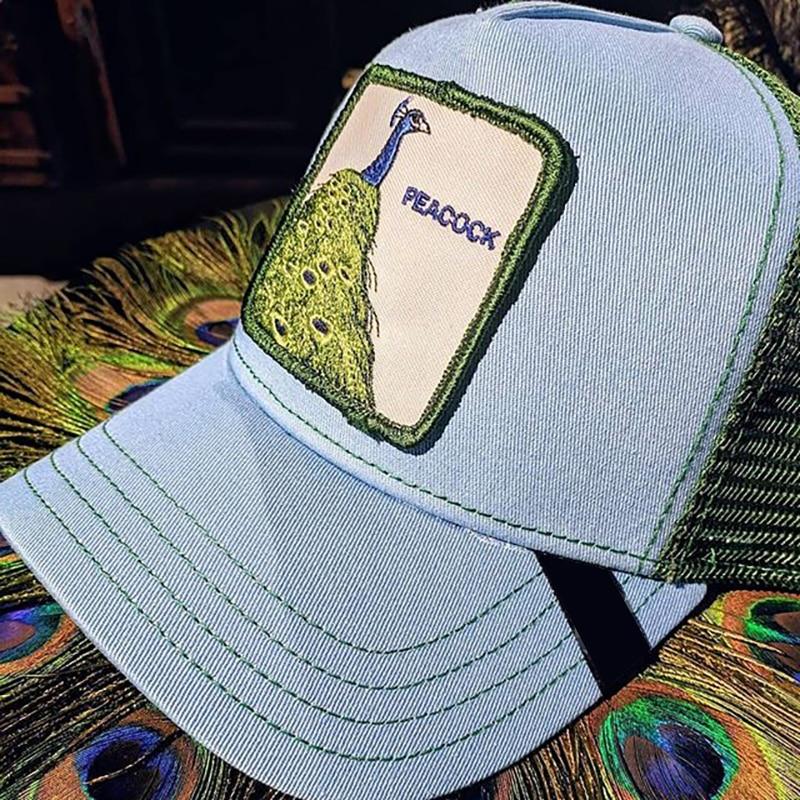 2019 novo verão bordado animal fazenda bonés de beisebol feminino/masculino sombra malha boné ajustável snapback chapéu para homem osso hip hop hat