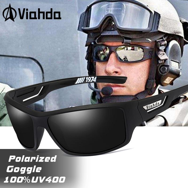 VIAHDA Polarized Sunglasses Men Designer HD Driving Sun Glasses Fashion Male Fishing Eyewear UV400 gafas de sol
