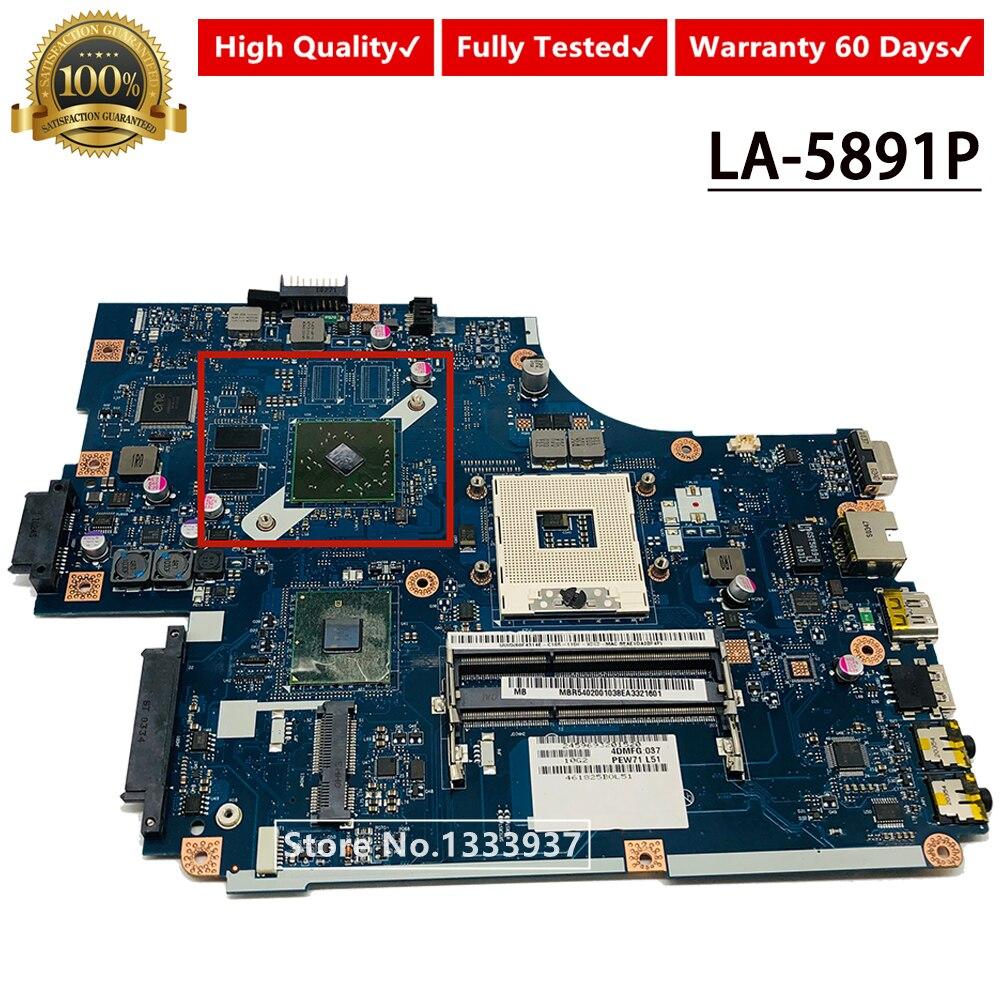Mbr5402001 mb. r5402.001 new70 LA-5891P mainboard para acer 5741 5741g 5742 5742g computador portátil placa-mãe