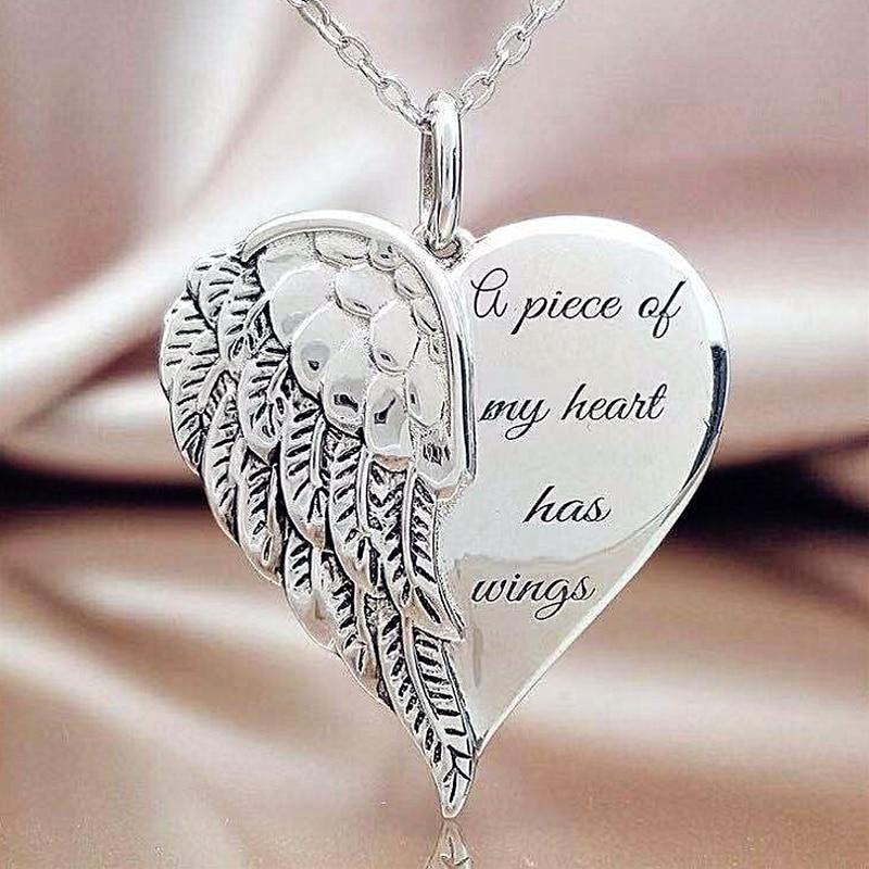 Креативный-дизайн-высокое-качество-металла-толстовка-с-капюшоном-надписью-«angel»-и-принтом-«крылышки-стильный-элегантный-кулон-Сердечко