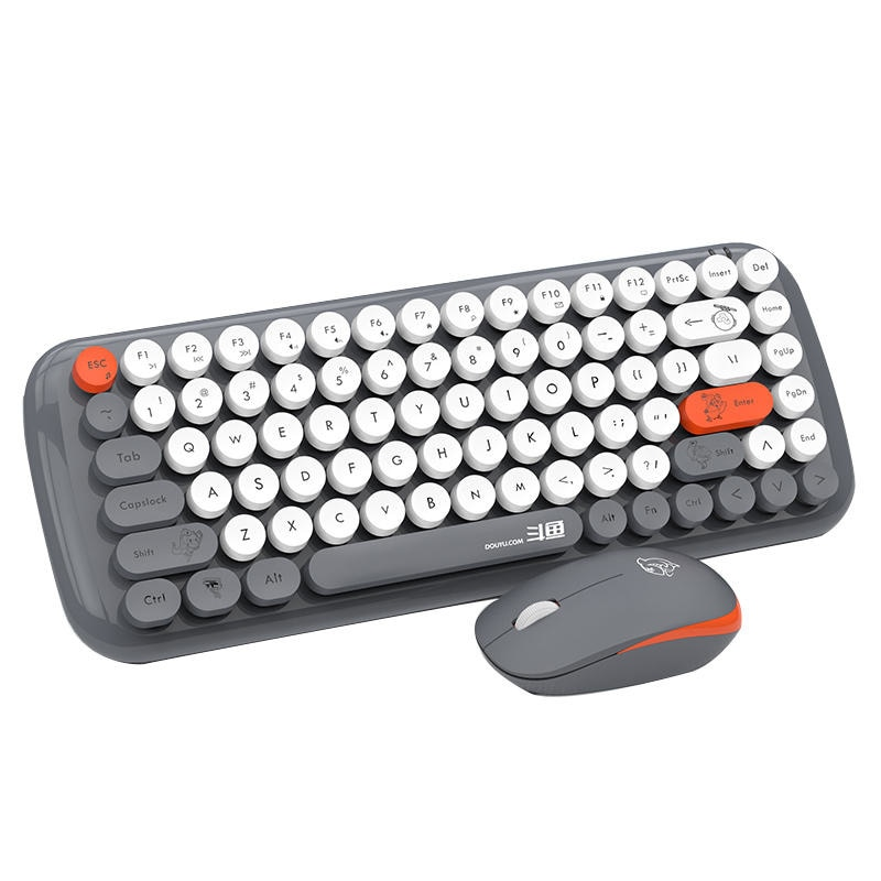 DKS2000 86 Keys Wireless Chocolate Button Thin Film Keyboard and Mouse Combo enlarge