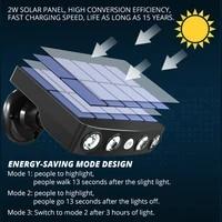 powerful outdoor solar light motion sensor garden led waterproof spotlight garden path street wall light solar light