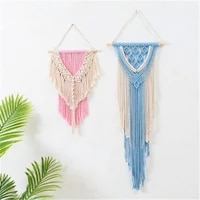 nordic minimalist hand woven tapestry multilayer bedroom pendant cotton rope wall decoration