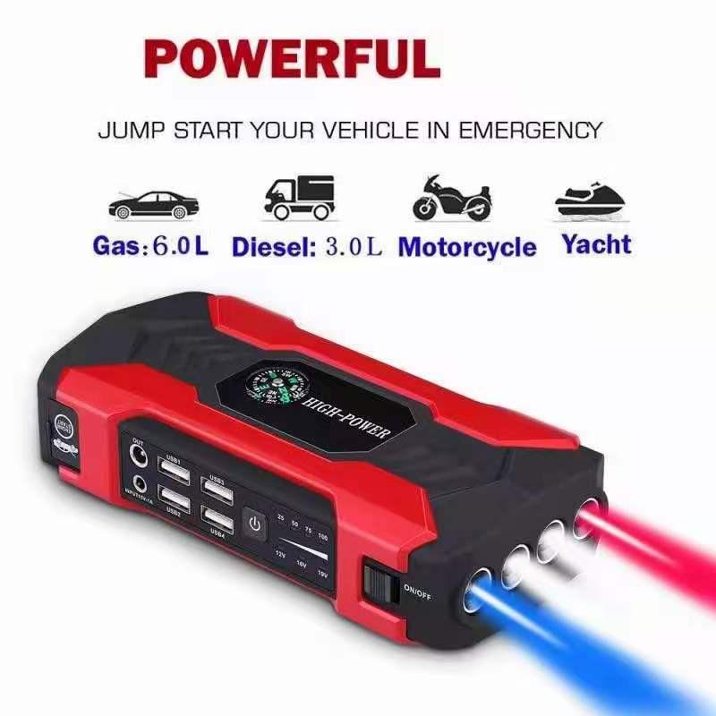 Автомобильное пусковое устройство, пусковое устройство, аккумулятор, внешний аккумулятор 12 В, 98000 мАч, автомобильное пусковое устройство, п...