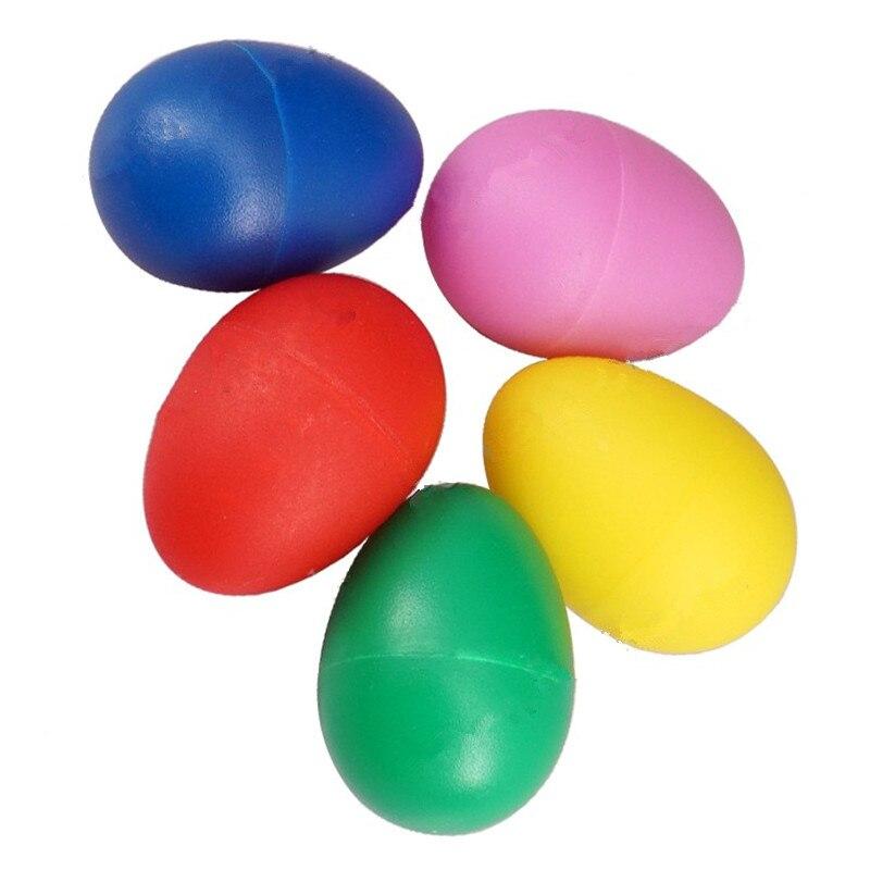 5 unids/lote de huevos con sonido Musical coloreado percusión manual Maracas Rumba Shakers ritmo para ukelele guitarra partes