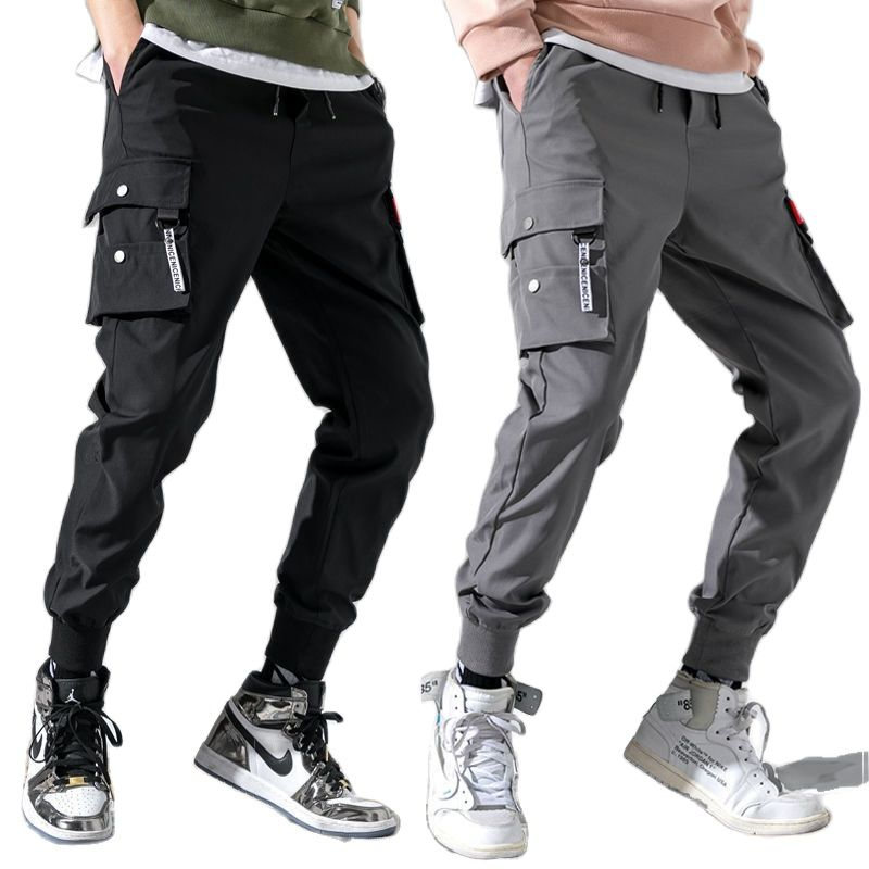 Summer Thin Men Jogging Golf Pants Polyester Cargo Work Tactical Pant Tracksuit Spring Trousers Man Clothes 2021 Ankle Length