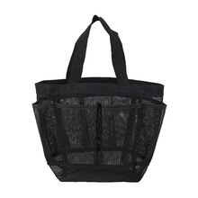 Mesh Shower Caddy Portable for College Dorm Large Bathroom Tote Bag Durable with 8 Pockets SLC88