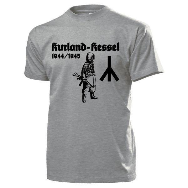 2019 moda venda quente kurland kessel 1944 1945 schlacht wh todesrune t camisa #15511 camiseta