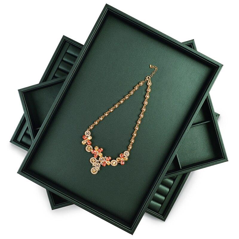 Oirlv قلادة صينية سوار ساعة صينية خاتم أقراط صينية مجوهرات المنظم علبة مجوهرات عرض الدعائم صور يطلق النار