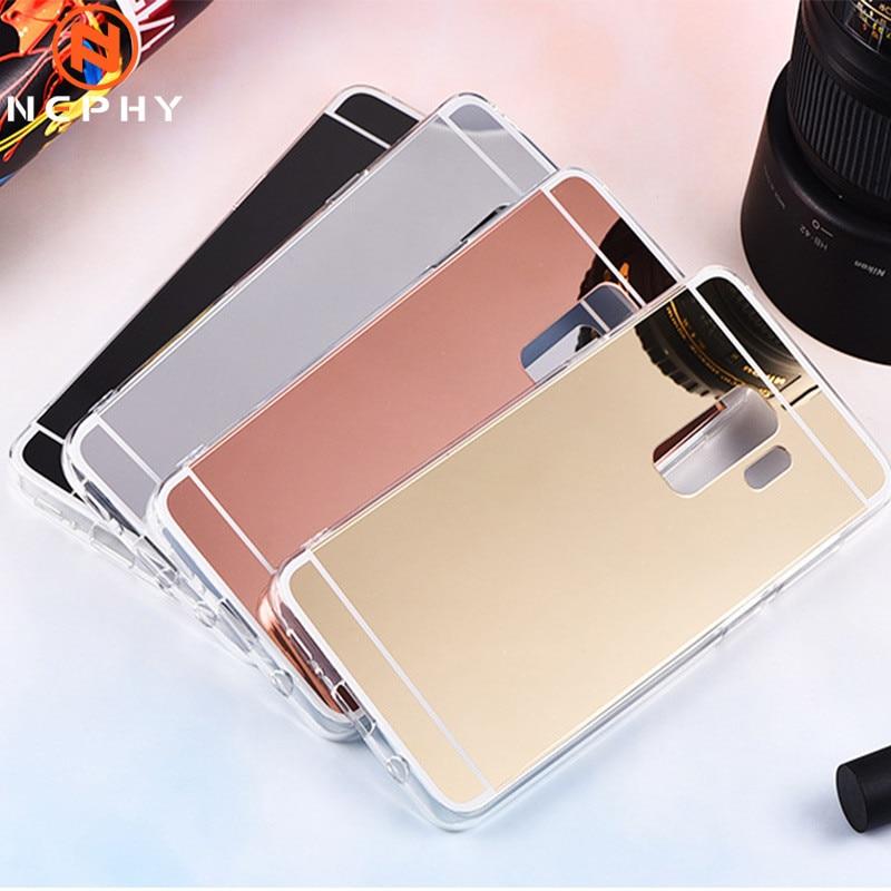 Mirror Silicon Phone Case For Samsung Galaxy S9 S8 Plus S6 Plus S7 Edge S4 S5 J100 J3 J5 J7 Prime J4 J6 J8 2017 2018  2015 Cover
