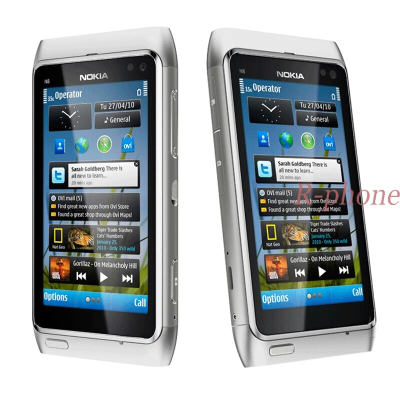 Refurbished Original Nokia N8 Mobile Phone WIFI GPS 12MP 3G GSM 16GB Storage N8 Mango Smartphone Unlocked