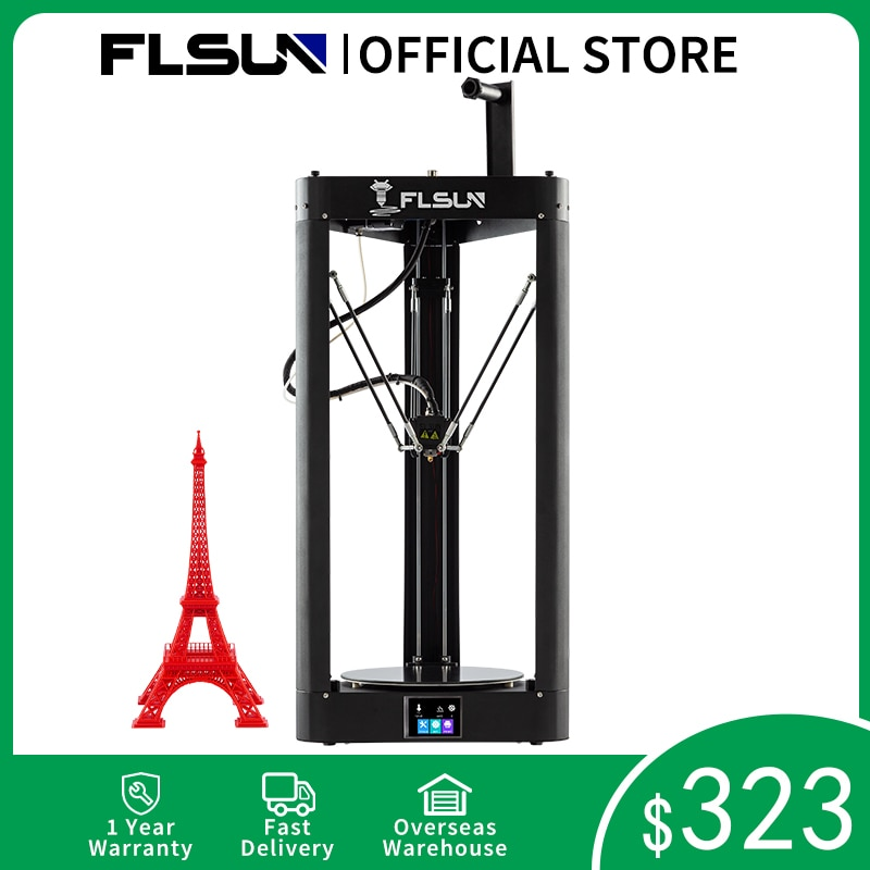3D Printer Flsun QQ S PRO Delta Kossel Auto-Level Upgraded Resume Pre-Assembly TFT 32bits Board Impressora Drucker