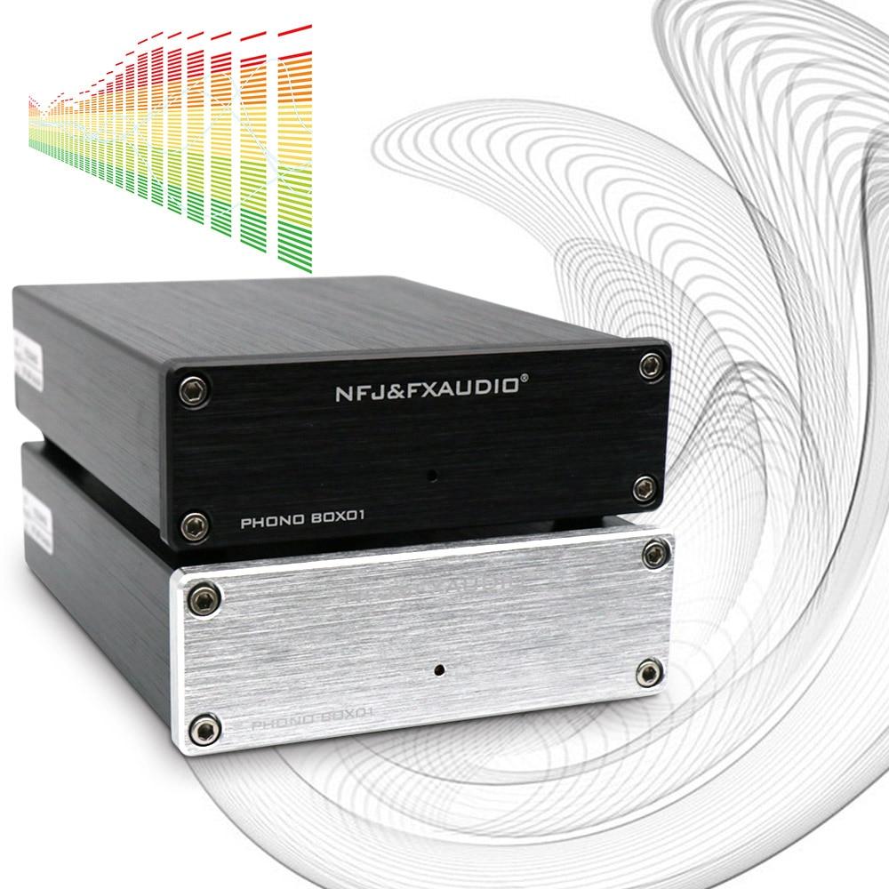 NFJ & FXAUDIO BOX01 Mini MM PHONOGRAPHIC Patrone Preamp HIFI AMP Musik Verstärker für Schallplatte Player Audio Verstärker