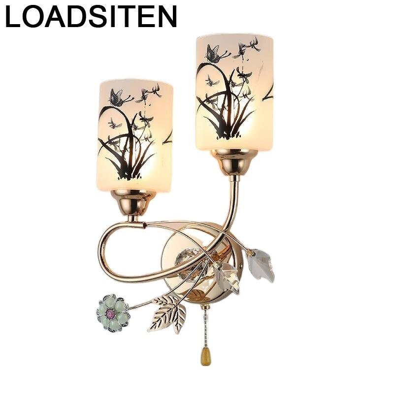 Luminaria Aplik para Pared Interior De dormitorio, lámpara Led De cristal para...