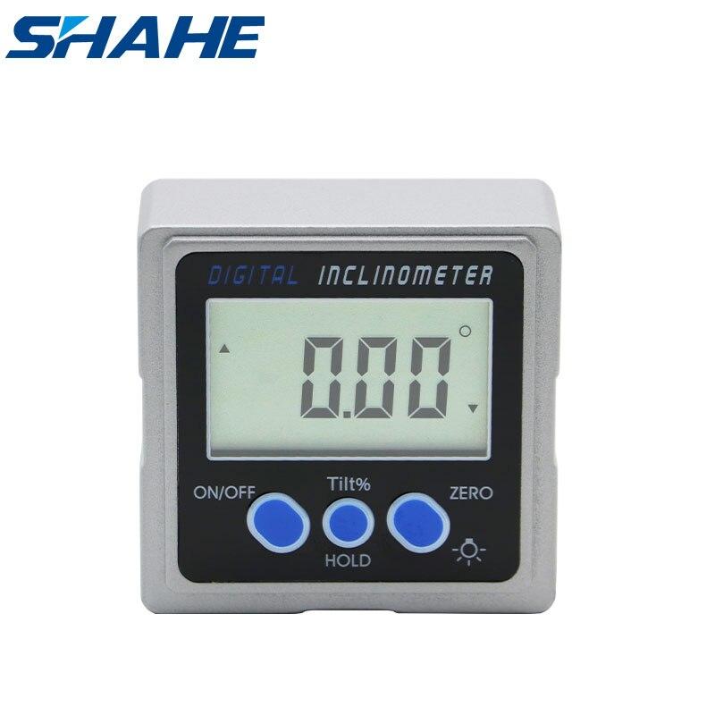 مقياس الشطبة المائل للزاوية والمستوى الرقمي المغناطيسي shahe مع 3 جوانب مغناطيس منقلة معدنية