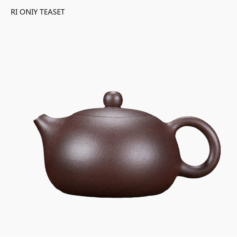Yixing-أباريق شاي من الطين الأرجواني ، 200 مللي ، إبريق شاي Xishi ، ثقب كروي ، مرشح ، غلاية تجميل ، صناعة يدوية ، طقم شاي زيشا ، هدايا أصلية