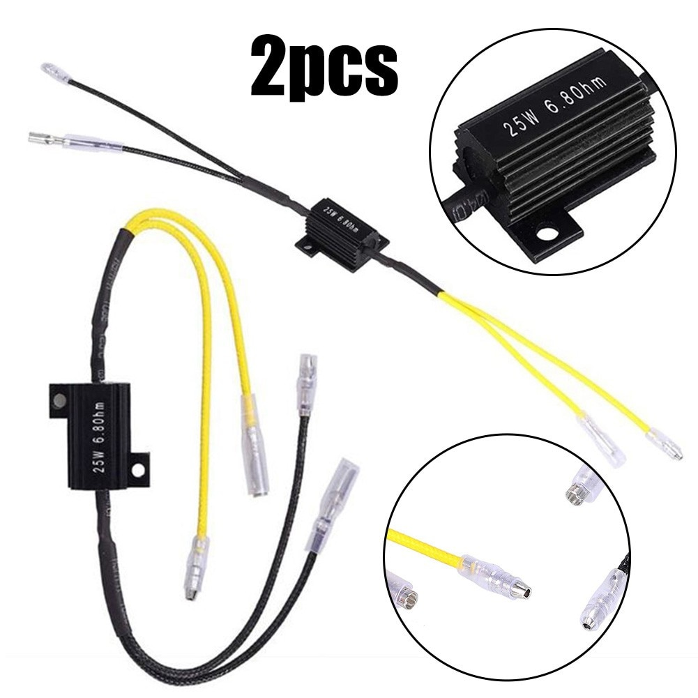 1 пара автомобильный резистор декодирования нагрузки экстренный светодиодный светильник ремонт 25 Вт 6,8 Ом светодиодный ные РЕЗИСТОРЫ НАГРУ...