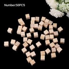 10mm Wooden Square Blocks Mini Cubes Embellishment for Woodwork Craft DIY