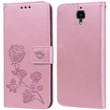 Luxury Leather Flip Book style Case for Xiaomi Mi 4 / Mi 4W 4C 4I Rose Flower Wallet Stand Card Hold