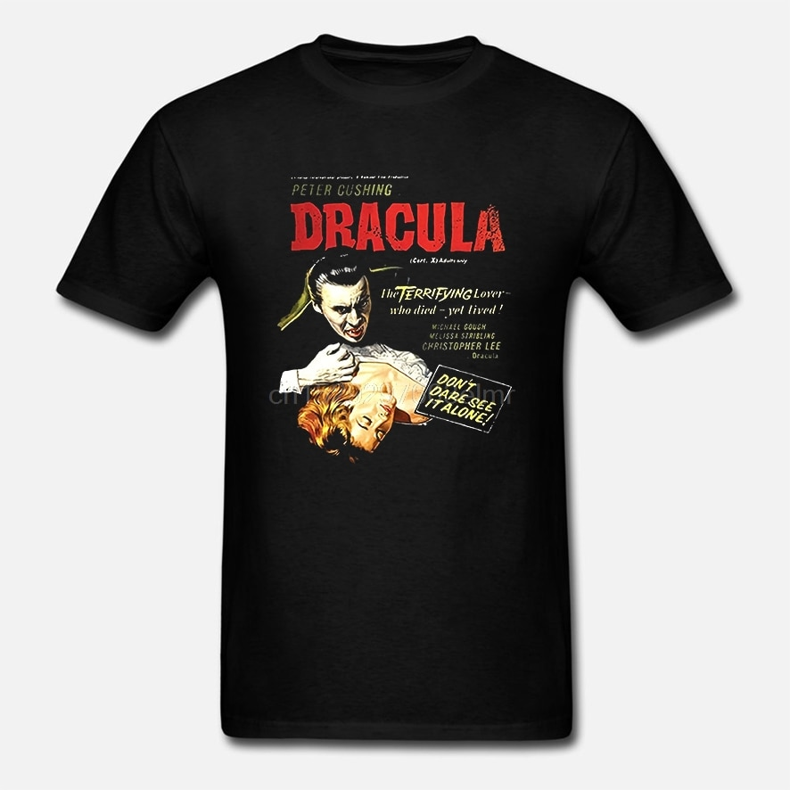 Hammer House of Horror футболка Дракула классический фильм плакат Мужская забавная футболка