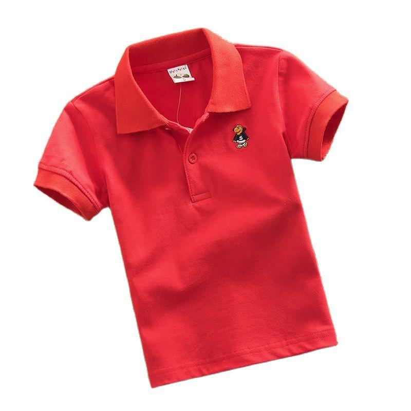 Высококачественная Новинка популярная рубашка поло одежда для маленьких