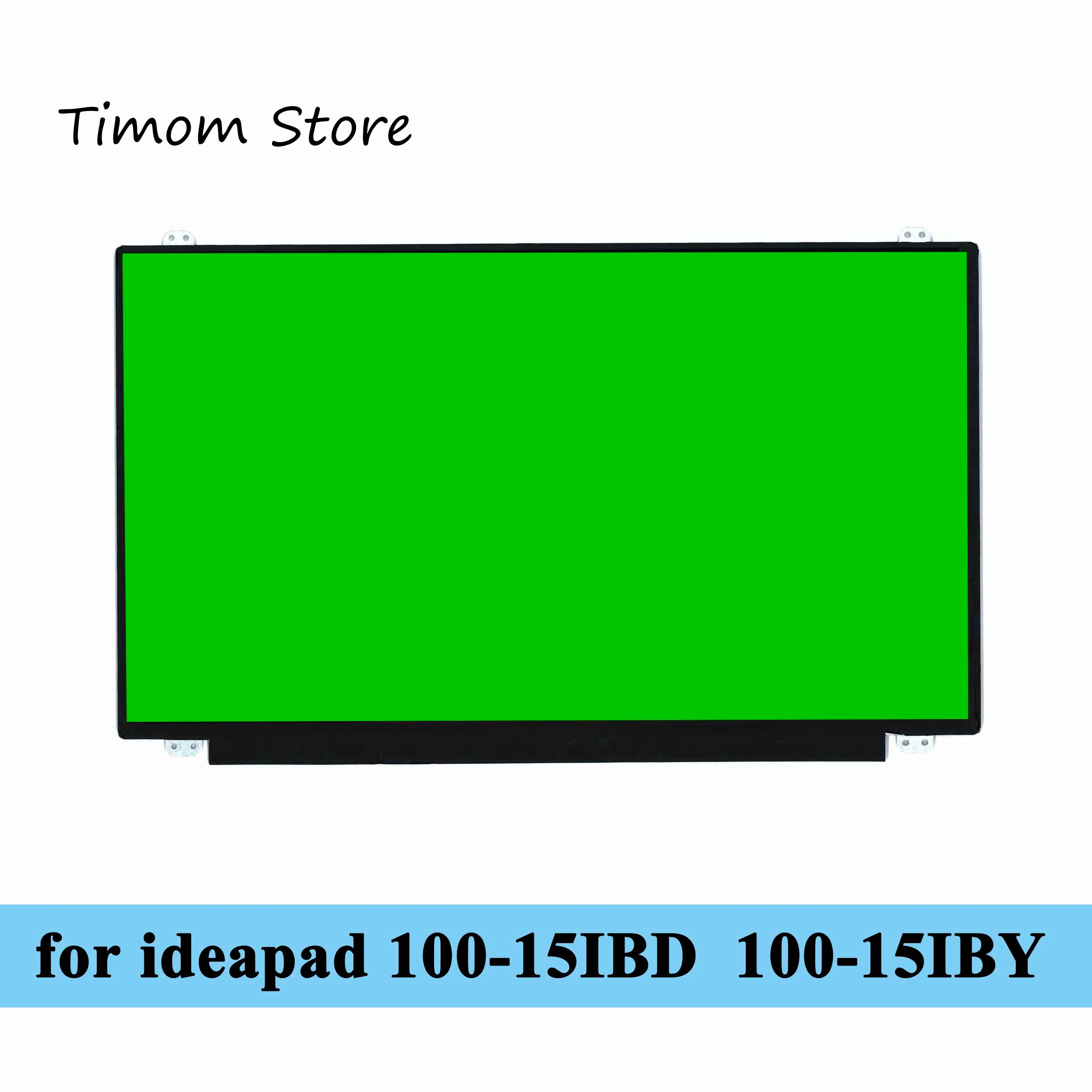 Tela de lcd para computador de notebook, para 100-15ibd 80qq-lenovo ideapad 100-15iby 80mj 80r8 20564 20644 hd 1366*768 led edp 30pin 15.6 matriz fina