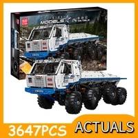 mould king 18 technical car model the arakawa moc tow off road truck tatra 813 8x8 car building blocks brick toys kids gifts