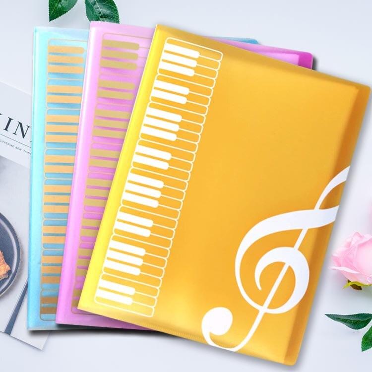 1 шт. Творческий A4 Музыка обучения домашних животных 40 Слои музыка пианино папка для документов модный школьный Музыка обучения объекты фай...