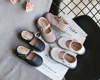 boys leather casual girls single shoes spring and autumn performance shoe childrens sneakers