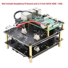 "Raspberry Pi Modello B X828 4 USB3.0 2.5 ""Sata Hdd/Ssd Impilabile Stoccaggio a Bordo + Hub Usb per raspberry Pi 4B/3B +/3B/2B/B +"