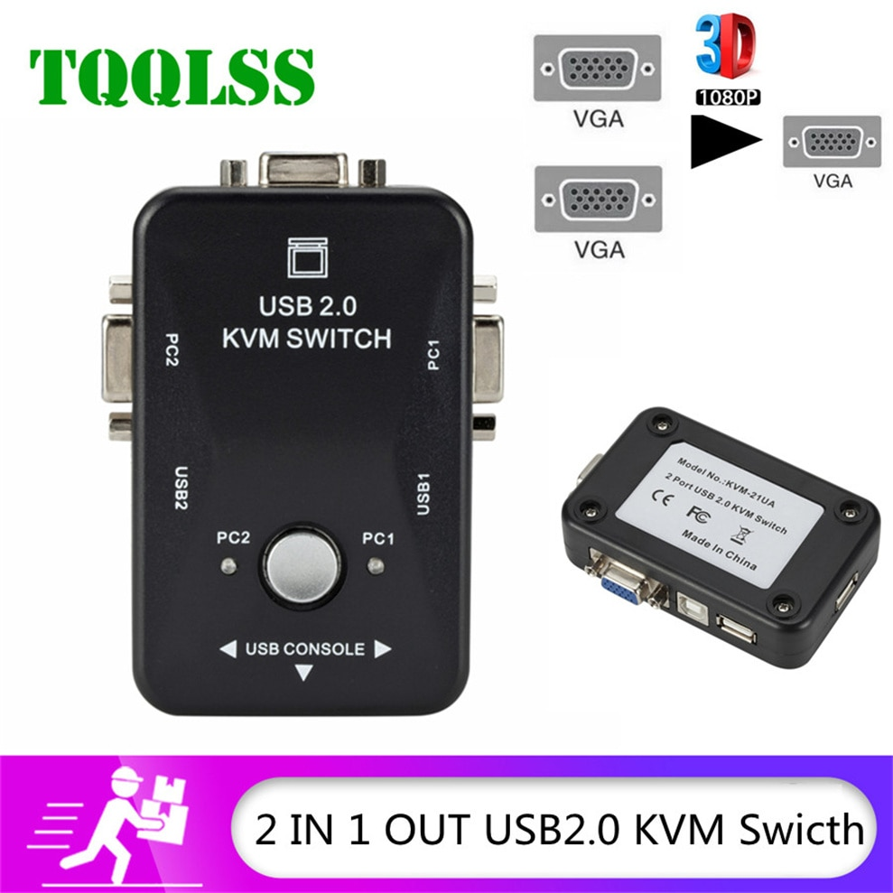 mt viki 8 port dvi kvm switch mouse and keyboard sharing 8 hosts share 1 monitor press the key to switch manually mt 2108dl TQQLSS USB Sharing KVM Switch Switcher 2 Port VGA SVGA Switch Box USB 2.0 Mouse Keyboard Printer Switch for 2 computer Share kvm