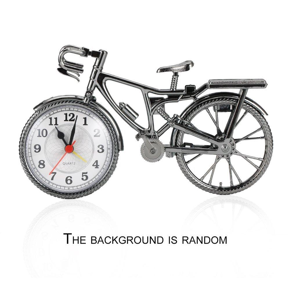 1Pcs Retro bicycle Alarm Clock Cool Style Clock Fashion Personality NZ-035 22*6*13cm Drop Shipping