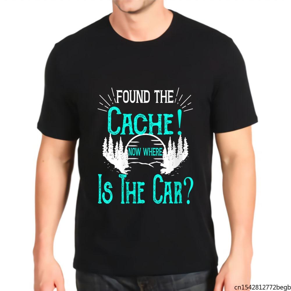 Нашел кэш сейчас, где находится автомобиль, Мужская футболка