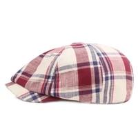 new mens summer autumn newsboy caps vintage lattice driving cap men women berets casual unisex octagonal flat hat