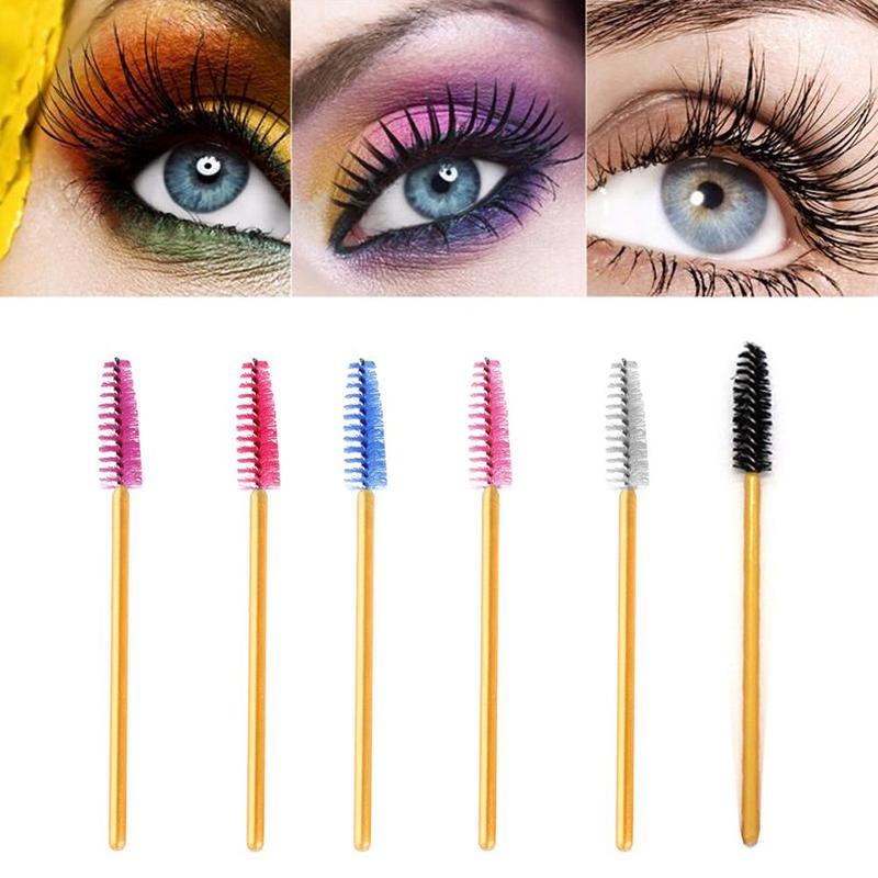 1 pièces Extension de cils brosse à sourcils jetable Mascara baguette applicateur Spoolers cils cosmétiques pinceaux ensemble outils de maquillage