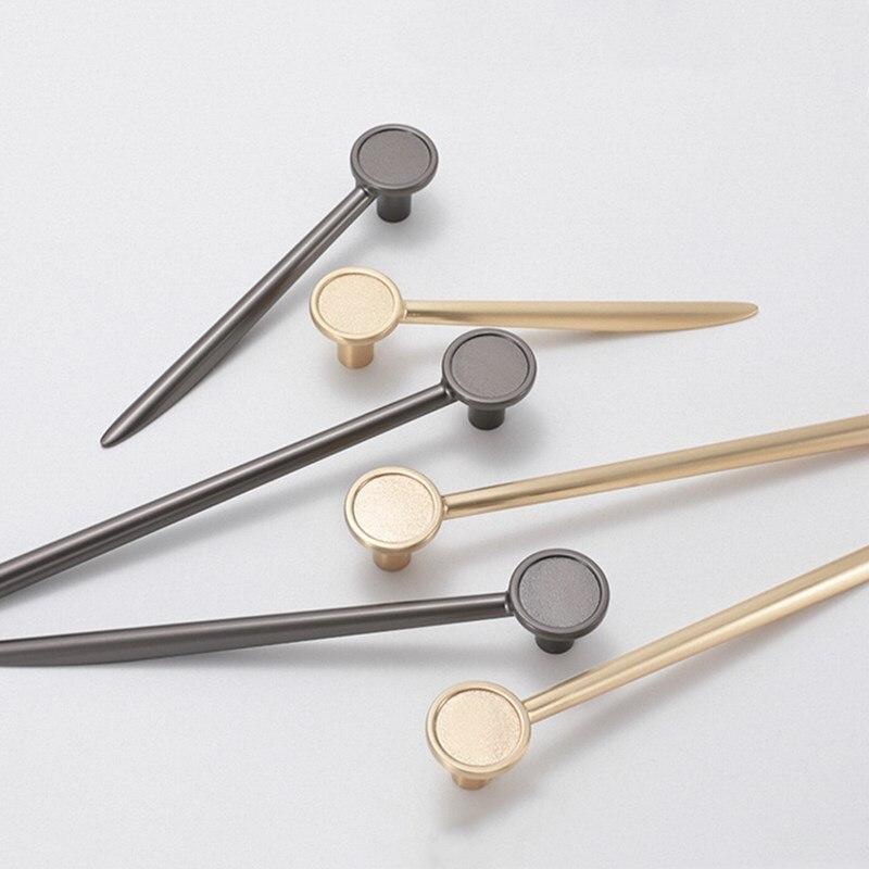 KK & FING 1 ud. Manija moderna de la perilla de la cocina de la aleación del cinc tiradores del cajón tiradores de tocador de oro armario Zapatero moderno tirador Hardware