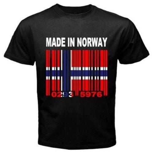 Сделано в Норвегии норвежский Nynorsk флаг страны на заказ черная футболка Y39