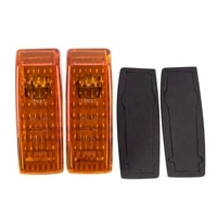 2pcs car fender turn signal light indicator repeater lamp cover yellow for mercedes benz w124 r129 w140 w202 w201