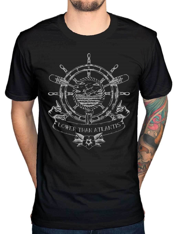 Camiseta oficial inferior a Atlantis hundimiento barco Go On Strike Indie Rock Band(2)