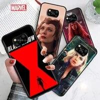 black widow scarlet witch for xiaomi poco c3 m3 m2 x3 nfc x2 f2 pro f1 f3 mi play mix 3 a2 lite a1 6 5x black soft phone case