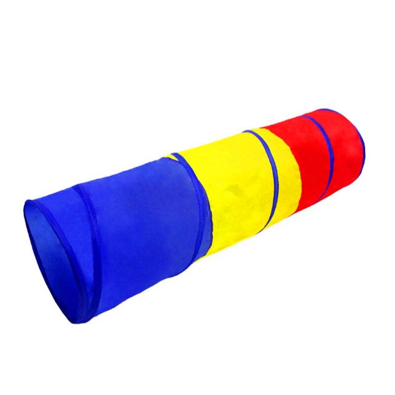 Портативная детская туннельная палатка, трехцветная Игровая палатка для дома, складная уличная игровая туннельная палатка для ползания, иг...
