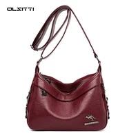 olsitti high quality pu leather shoulder messenger bags for women 2021 designer famous brand large capacity womens handbag