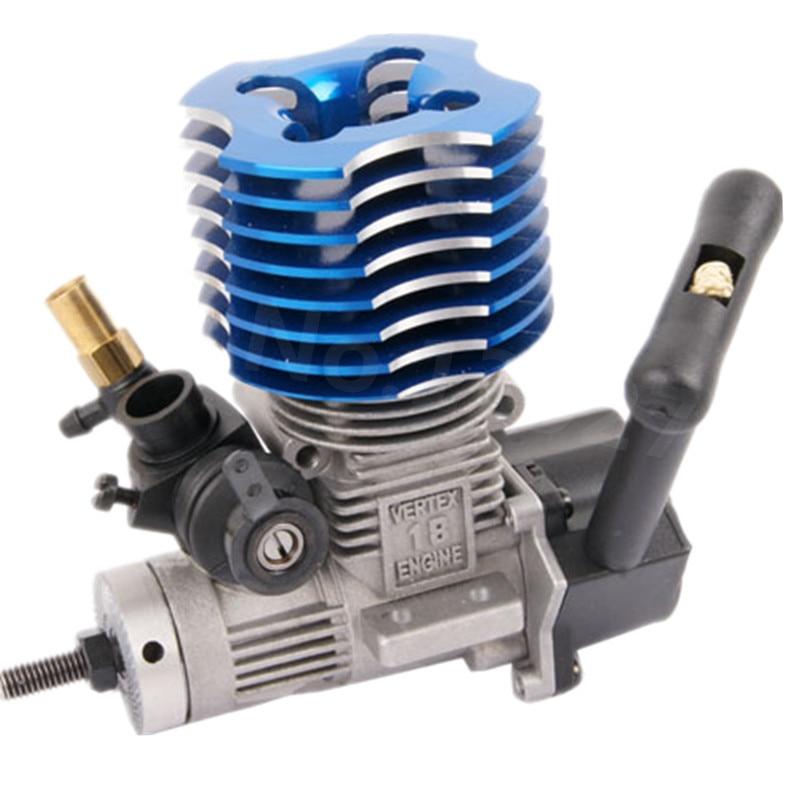 Vx 18cxp vertex 18 motor nitro power 2.74cc, com saída de partida-plug 02060 para 1/10 1/8 modelo rc carros buggy hsp himoto
