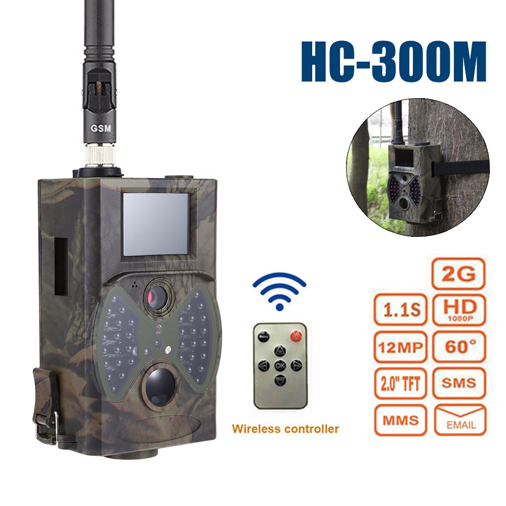HC300M Hunting Camera GPRS /MMS/HD-1080 Suntek Scouting Night Vision Trail Camera Photo Traps Wildlife infrared Hunter Cameras